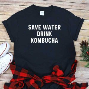 T-Shirt Save Water Drink Kombucha T-Shirt Herren und Damen Arelliano Deutschland